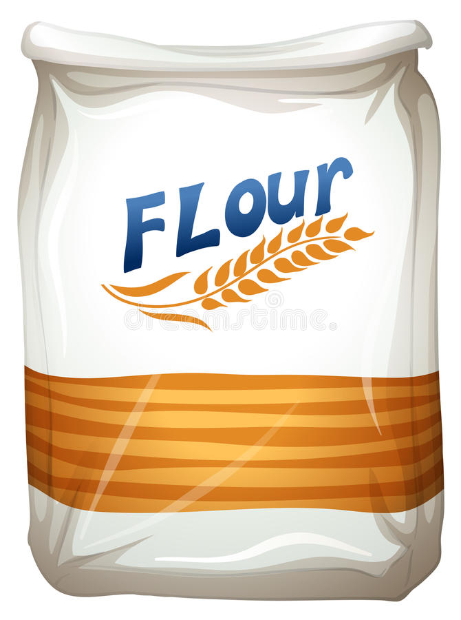 A packet of flour stock illustration
