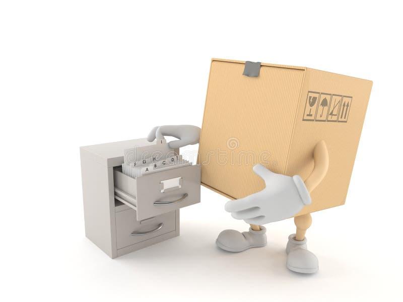 Packetecken med arkivet stock illustrationer