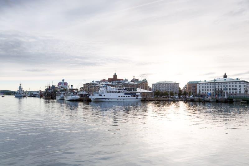 Packhuskajen in Gothenburg, Zweden stock afbeeldingen