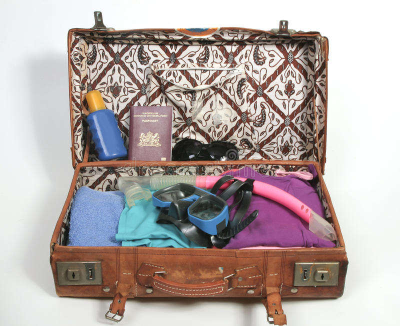 Download Packing For A Beach Vacation Stock Image - Image: 18947225