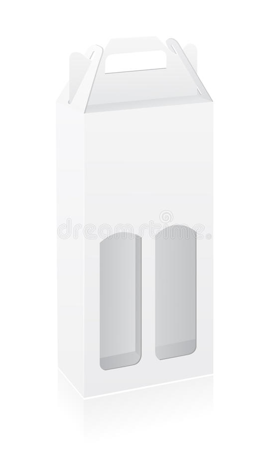 Packing box for bottle vector illustration. Isolated on white background royalty free illustration