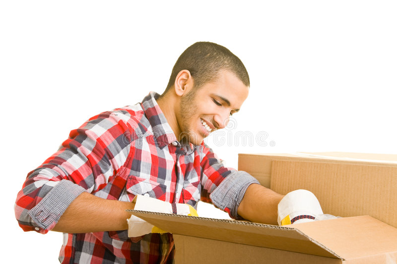 Packing cases royalty free stock photography