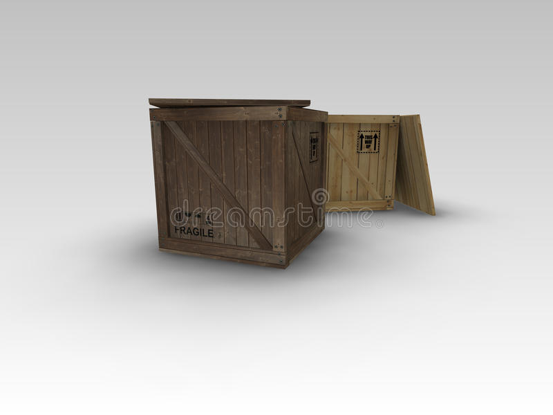 Packing Crates stock image