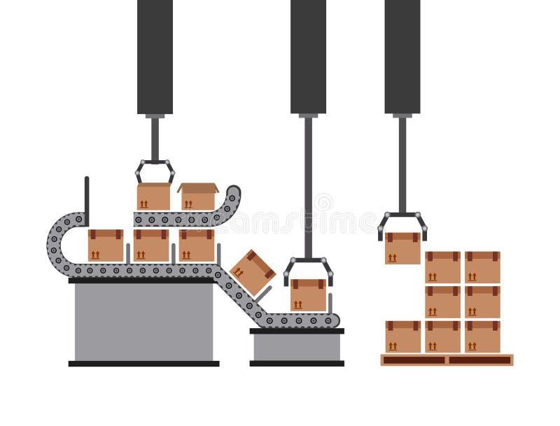 Packing machine royalty free illustration