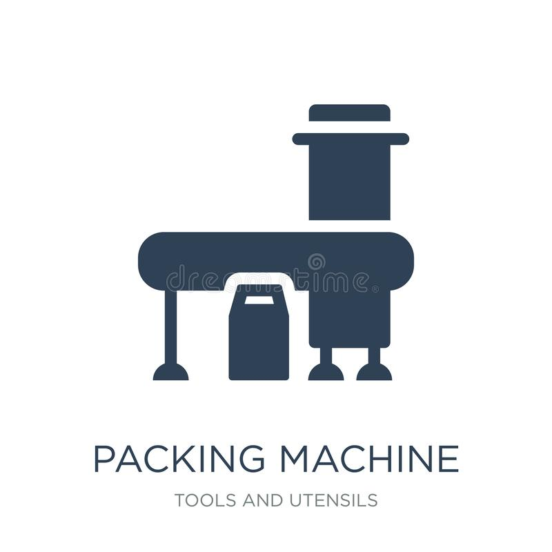 packing machine icon in trendy design style. packing machine icon isolated on white background. packing machine vector icon simple vector illustration