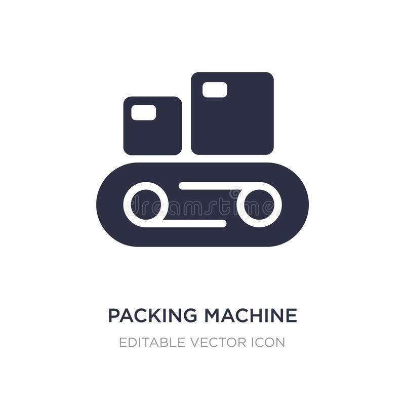packing machine icon on white background. Simple element illustration from Tools and utensils concept stock illustration