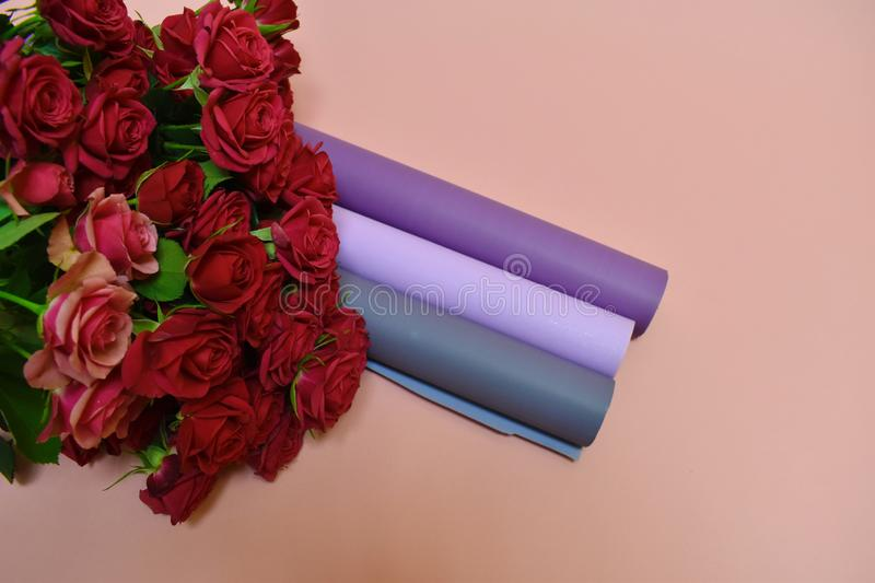 Packing material for flowers royalty free stock photos