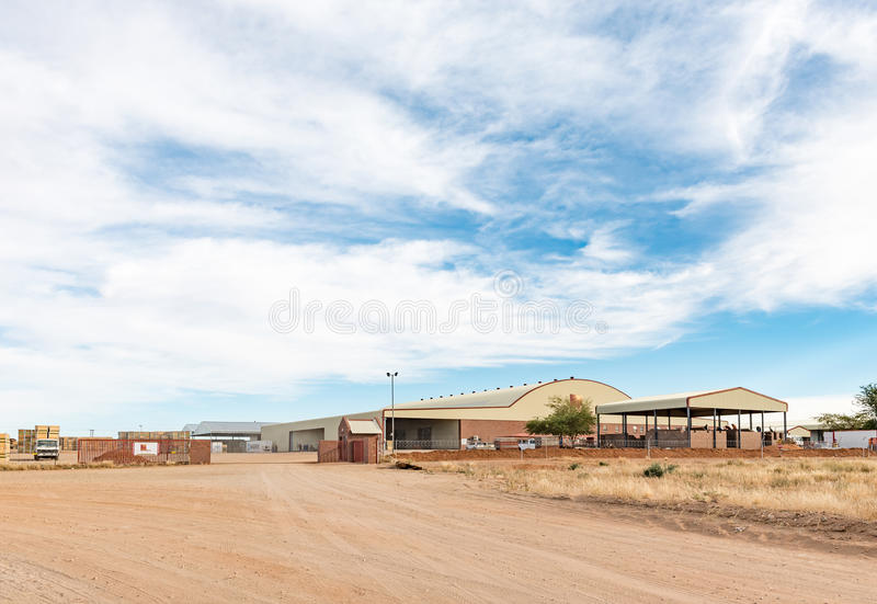 Packing store of RedSun Raisins in Keimoes. KEIMOES, SOUTH AFRICA - JUNE 12, 2017: The packing store of RedSun Raisins in Keimoes in the Northern Cape Province royalty free stock images