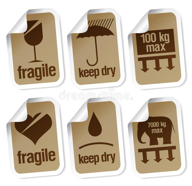 Download Packing symbols stock vector. Image of breakable, careful - 15744968