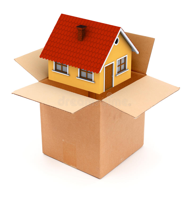 Download Packing Or Unpacking A House Stock Illustration - Image: 17473345
