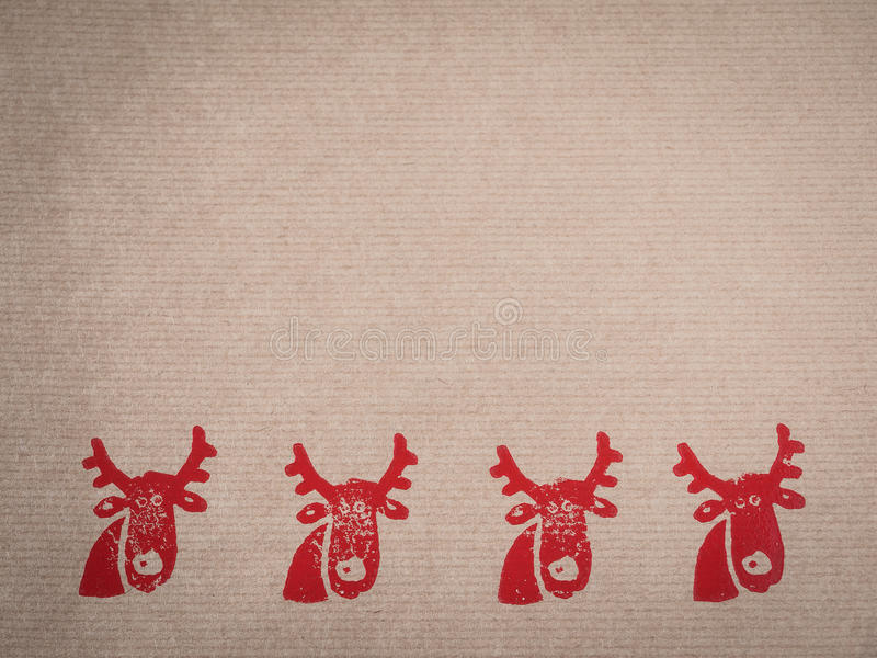 Packpapier mit Motiv, Rot, gestempelt lizenzfreies stockbild