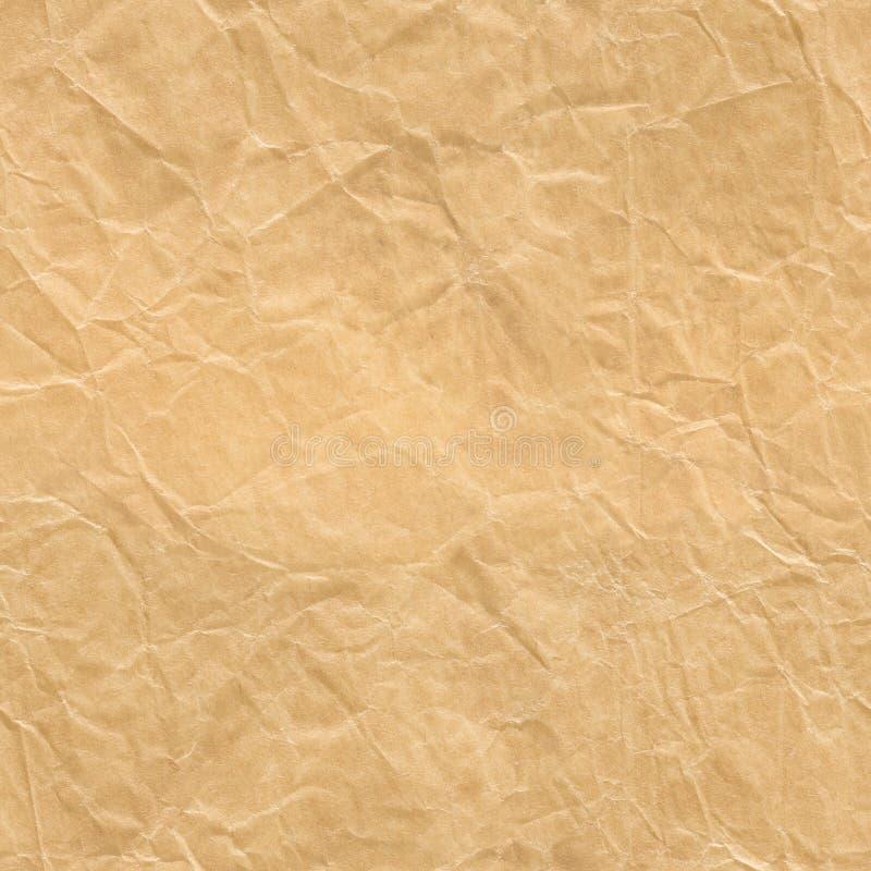 Packpapier-nahtlose Beschaffenheit, zerknitterter Verpackungs-Hintergrund lizenzfreie stockfotografie