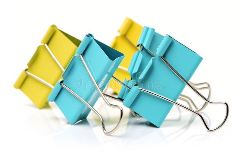 Packshot ha colorato la clip del raccoglitore fotografia stock libera da diritti