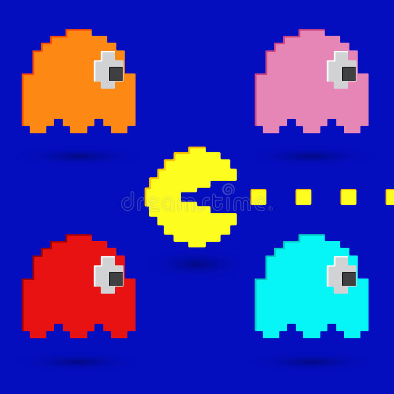 Pacman royalty-vrije illustratie