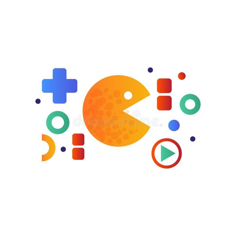 Pacman Arcade Game Icon Vector Illustration  Editorial Stock Image