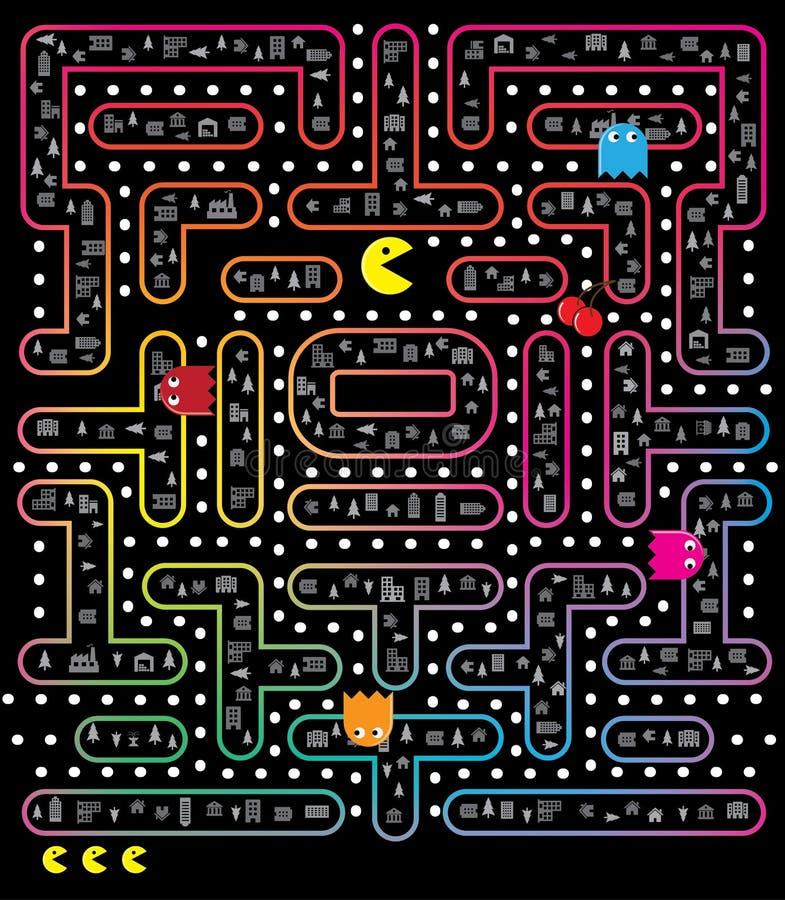 Pacmanspel vector illustratie