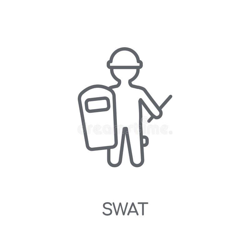 Pacnięcie liniowa ikona Nowożytny konturu pacnięcia logo pojęcie na bielu plecy ilustracji