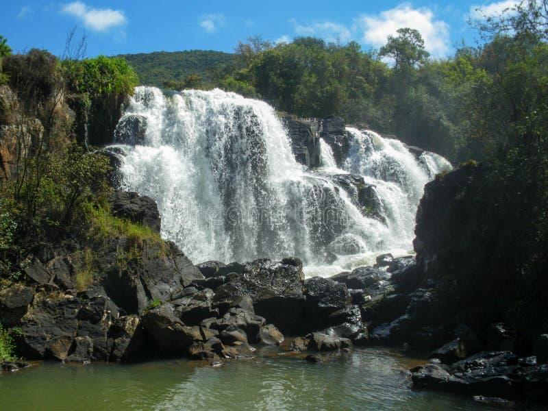 Pacos de Caldas waterfall, Minas Gerais, Brazil royalty free stock photography