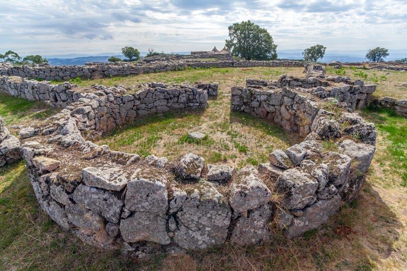 Pacos de Ferreira, Portugal - Citania de Sanfins. Pacos de Ferreira, Portugal - September 9, 2017: House ruins in Citania de Sanfins, a Celtic-Iberian stock images