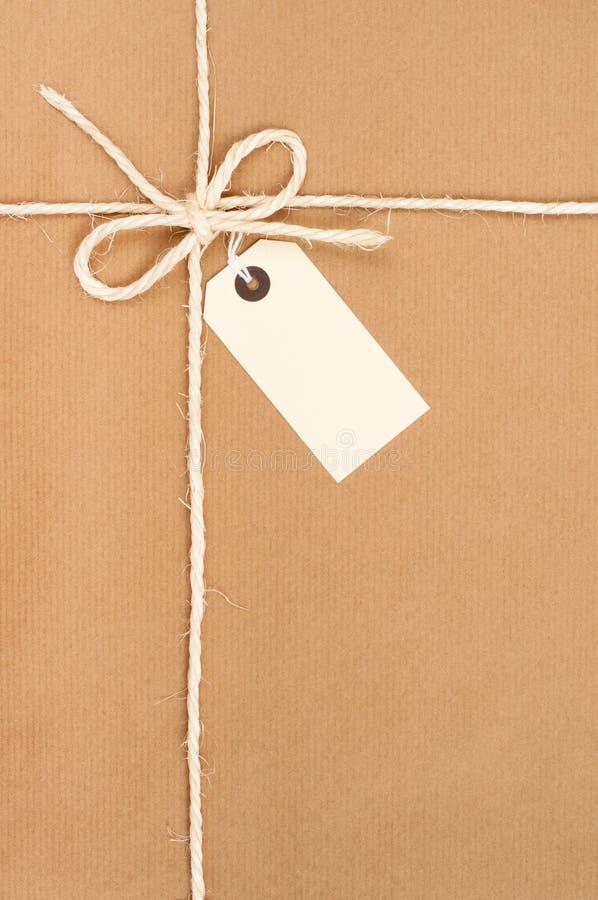 Pacote amarrado fotografia de stock