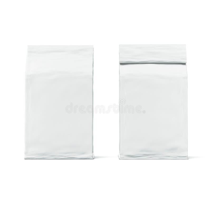 Pacote branco imagens de stock
