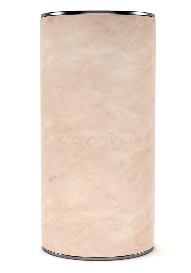 Pacote cilíndrico do cartão vazio ilustração royalty free