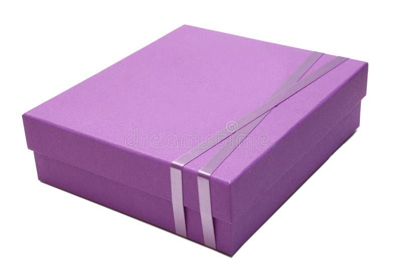 Pacote cor-de-rosa da caixa de presente fotografia de stock