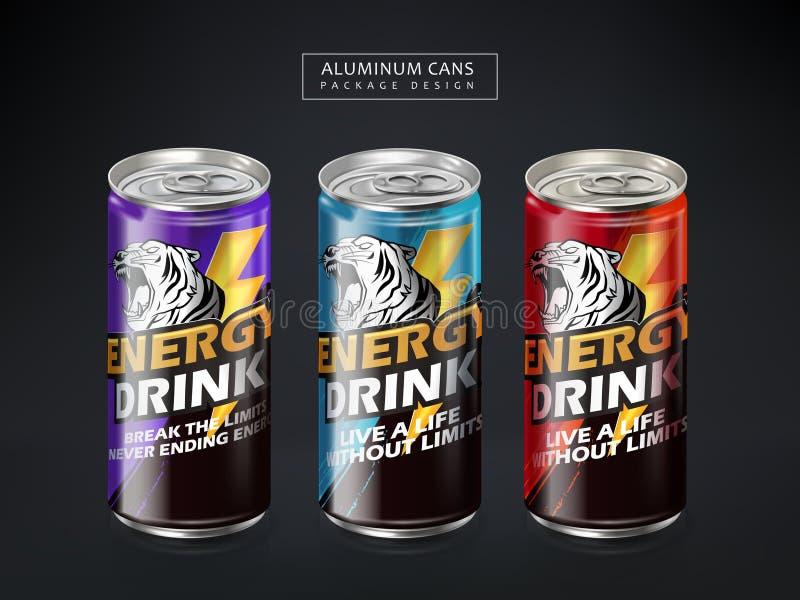 Pacote da bebida da energia ilustração do vetor