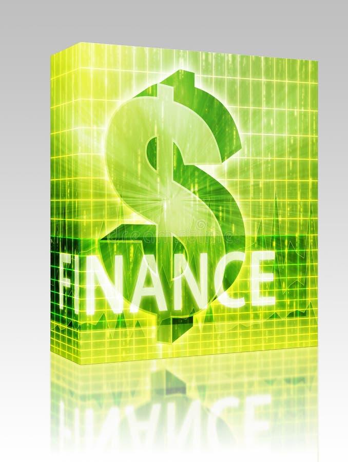 Pacote da caixa da ilustração da finança ilustração stock