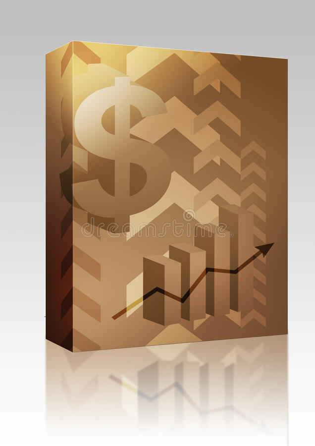 Pacote da caixa da ilustração do sucesso do dólar ilustração stock