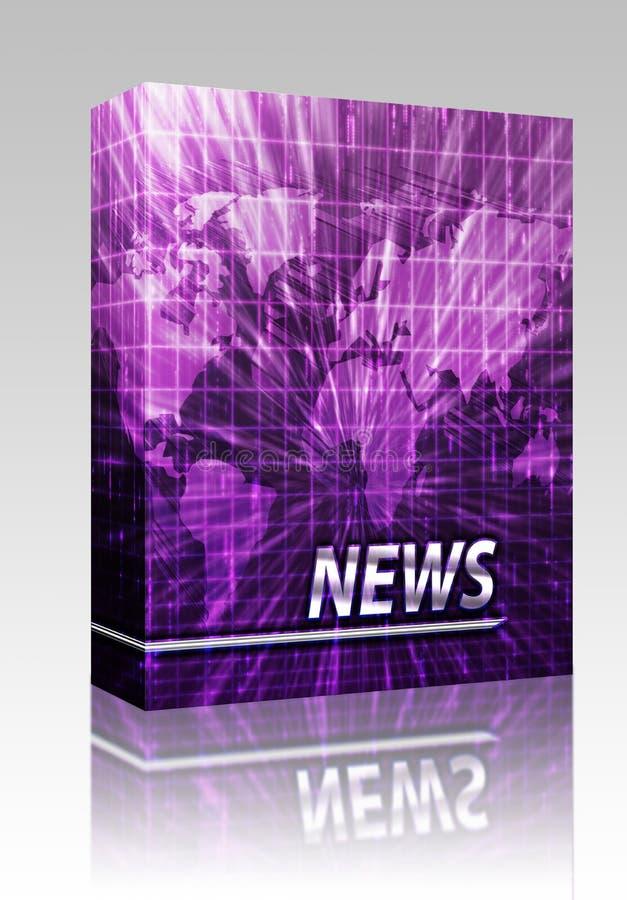 Pacote da caixa da tela do respingo da notícia ilustração do vetor