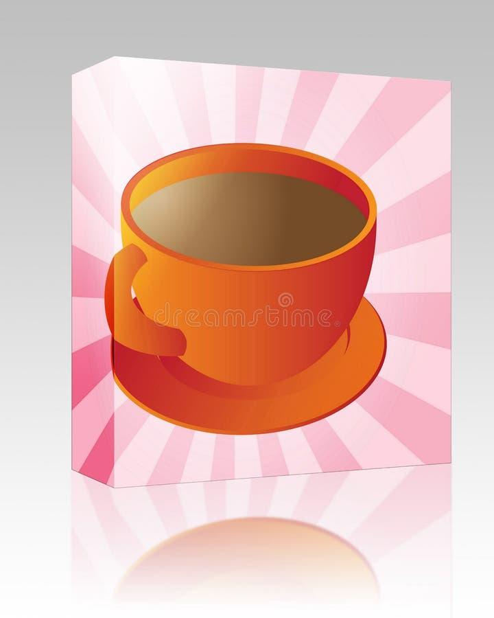 Pacote da caixa do copo de café ilustração royalty free