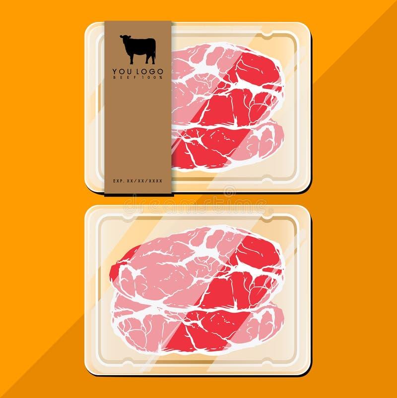 Pacote da carne foto de stock