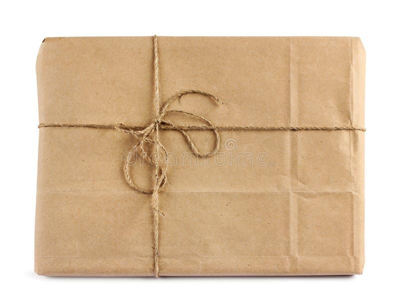 Pacote da entrega de correio de Brown fotos de stock