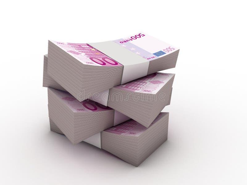 Pacote de 500 euro- notas ilustração royalty free