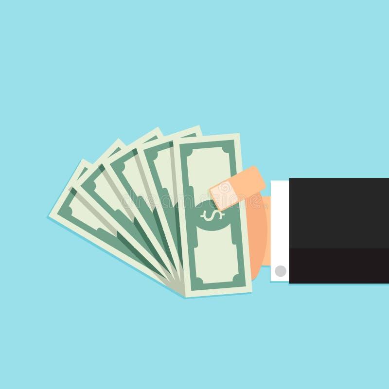 Pacote de dinheiro à disposição ilustração royalty free