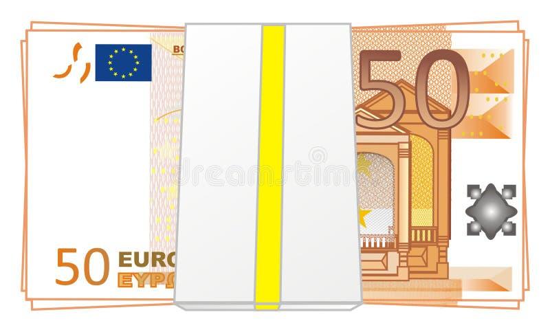 Pacote de euro ilustração do vetor