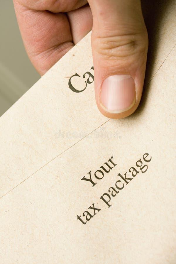 Pacote de imposto canadense fotos de stock