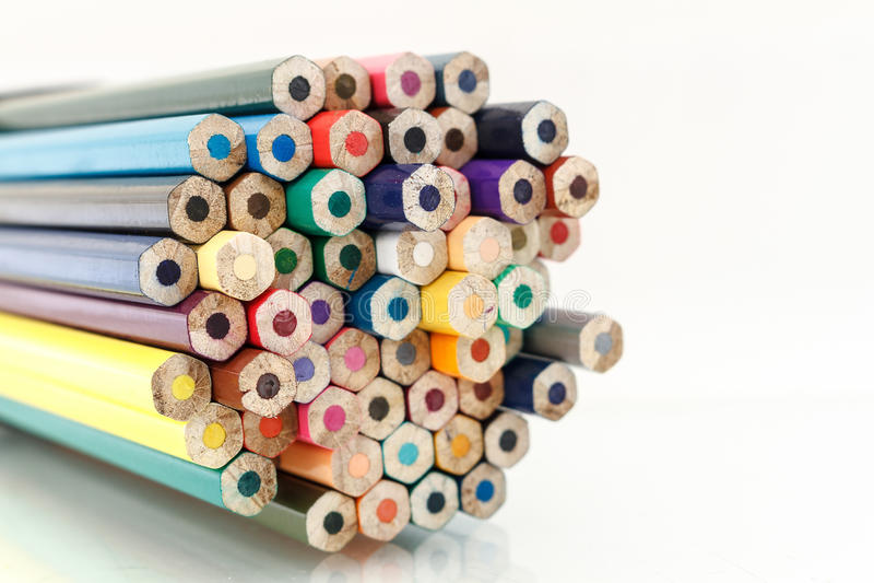 Pacote de lápis coloridos fotos de stock