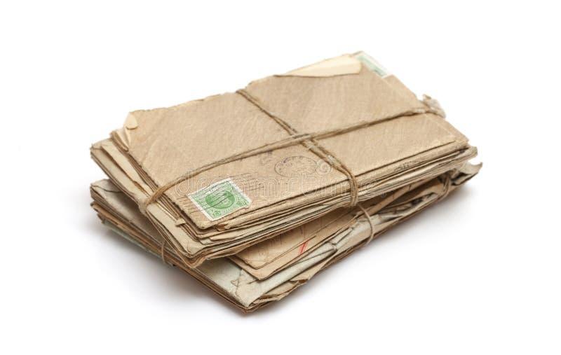 Pacote de letras velhas fotografia de stock royalty free