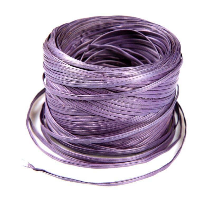 Pacote de nylon da corda imagem de stock