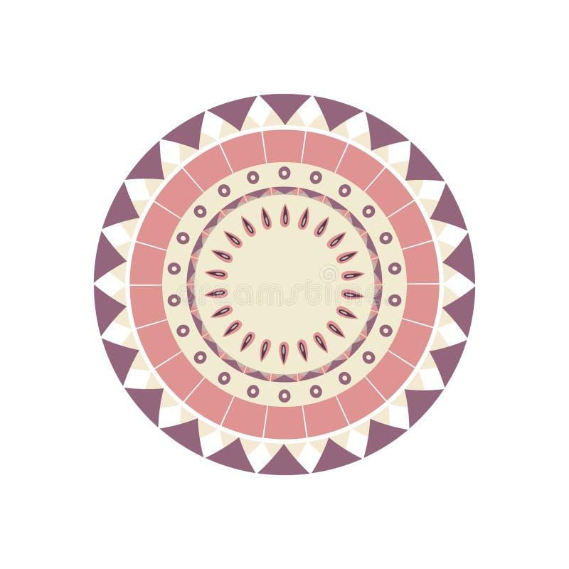 Pacote de ornamento orientais redondos ilustração stock