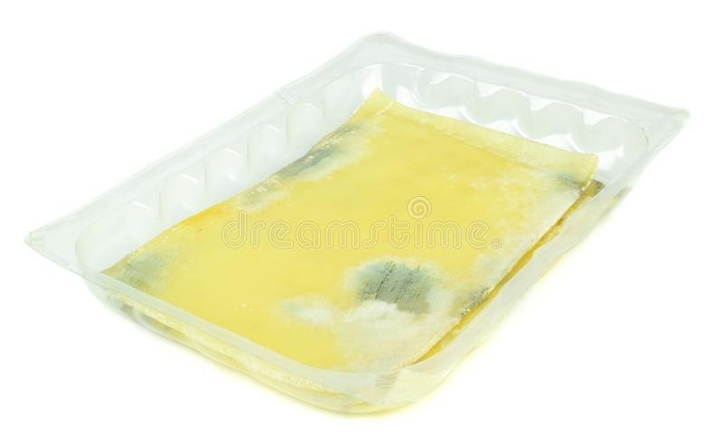 Pacote de queijo mouldy fotografia de stock royalty free