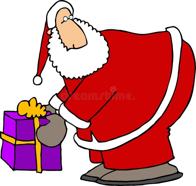 Pacote de Santa ilustração do vetor