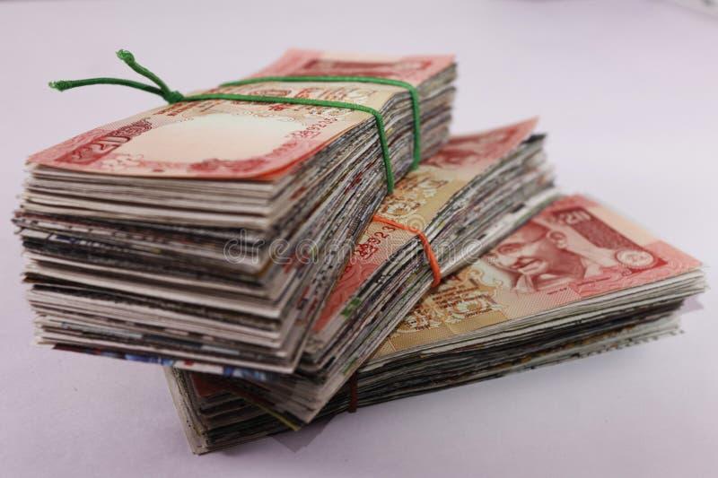Pacote de vinte rupias - moeda indiana imagem de stock royalty free