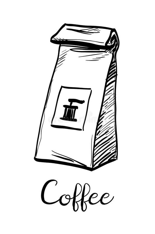 Pacote do café ilustração royalty free