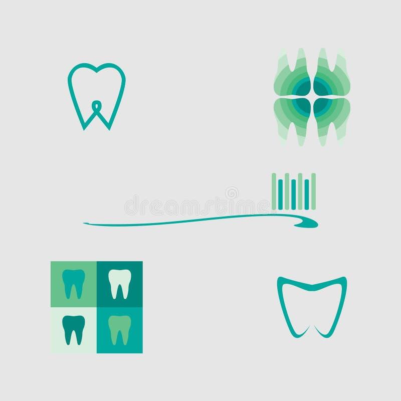 Pacote do dente ilustração do vetor