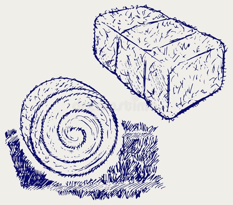 Pacote do feno ilustração do vetor