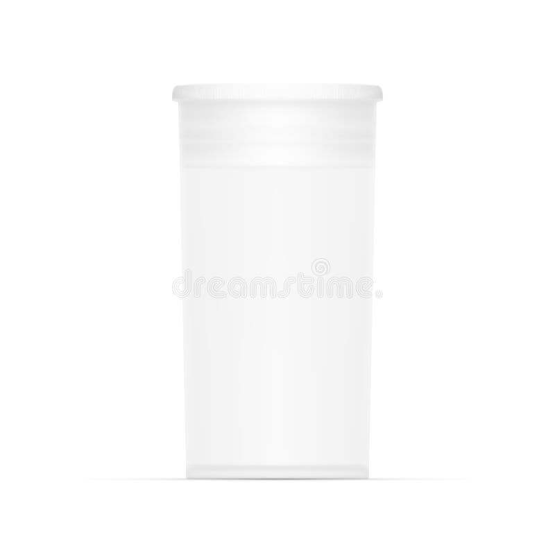 Pacote médico cilíndrico branco vazio ilustração stock