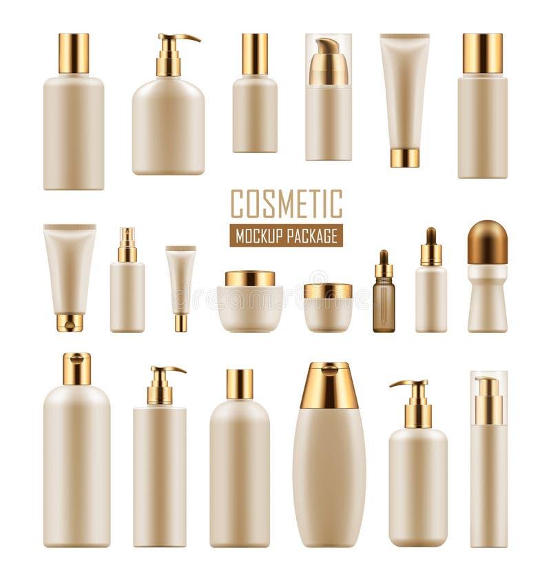 Pacote para o produto cosmético luxuoso ilustração royalty free
